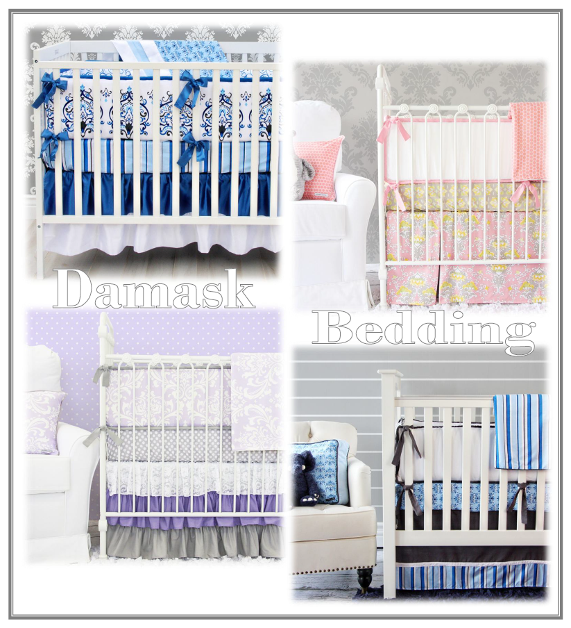 damask baby bedding